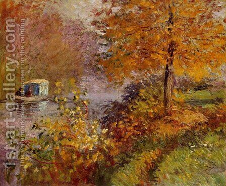 The Studio Boat 2 by Claude Oscar Monet - Reproduction Oil Painting