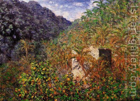 The Valley of Sasso, Bordighera 2 by Claude Oscar Monet - Reproduction Oil Painting