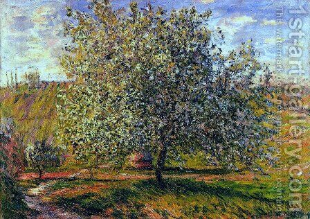 Tree in Flower near Vetheuil by Claude Oscar Monet - Reproduction Oil Painting