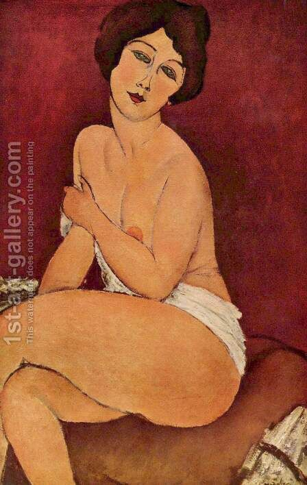 Female act by Amedeo Modigliani - Reproduction Oil Painting