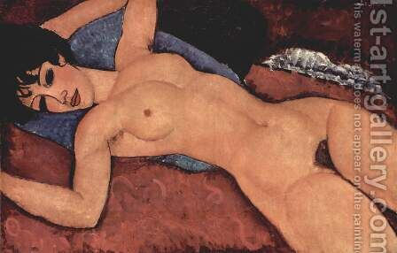 Lying act by Amedeo Modigliani - Reproduction Oil Painting