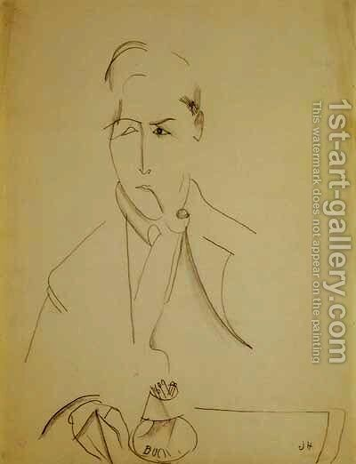 Modigliani with the pipe by Amedeo Modigliani - Reproduction Oil Painting