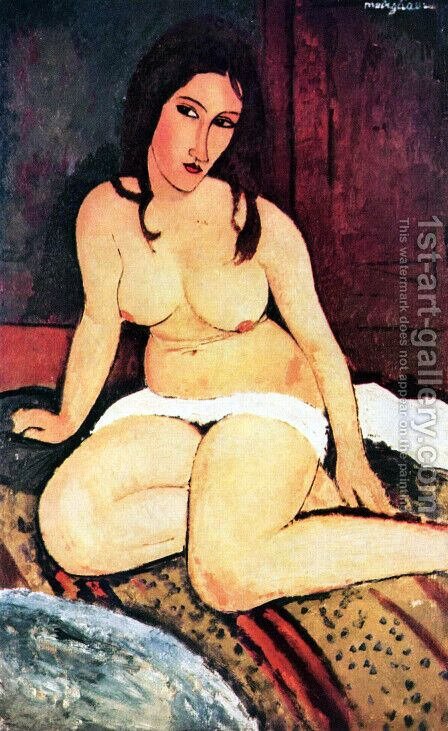 nude seated by Amedeo Modigliani - Reproduction Oil Painting