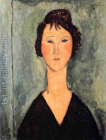 Portrait of a Woman 1 by Amedeo Modigliani - Reproduction Oil Painting