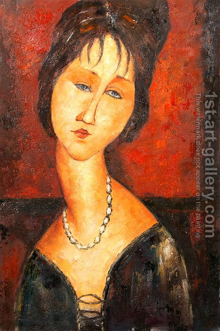 Portrait of a woman 3 by Amedeo Modigliani - Reproduction Oil Painting