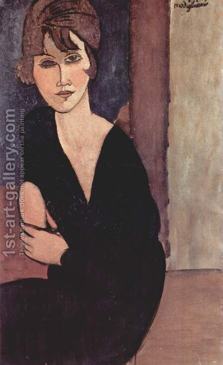 Portrait of Madame Reynouard by Amedeo Modigliani - Reproduction Oil Painting