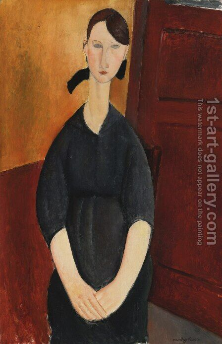 Portrait of Paulette Jourdain by Amedeo Modigliani - Reproduction Oil Painting