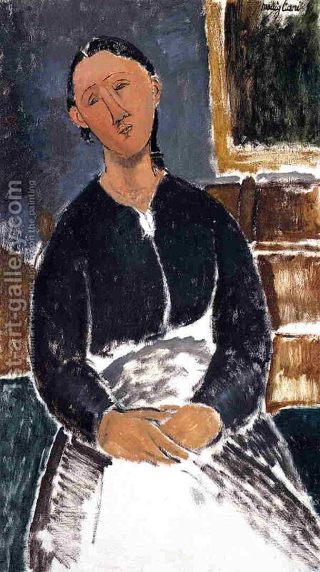 Serving Woman (aka La Fantesca) by Amedeo Modigliani - Reproduction Oil Painting
