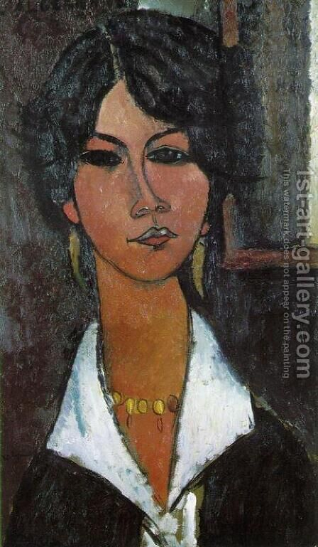 Woman of Algiers (aka Almaisa) by Amedeo Modigliani - Reproduction Oil Painting