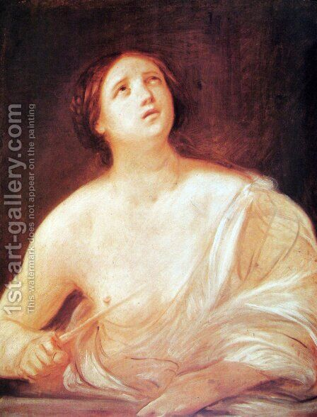 Suicide of Lucretia by Guido Reni - Reproduction Oil Painting