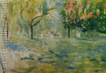 Avenue du Bois de Boulogne in Spring by Berthe Morisot - Reproduction Oil Painting