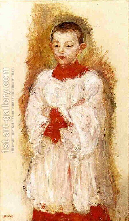 Choir Boy 2 by Berthe Morisot - Reproduction Oil Painting