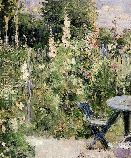 Rose Garden by Berthe Morisot - Reproduction Oil Painting