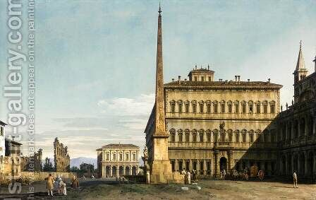 Rome, View of the Piazza di San Giovanni in Laterano by Bernardo Bellotto (Canaletto) - Reproduction Oil Painting