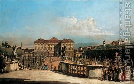 The Liechtenstein Palace garden, garden by Bernardo Bellotto (Canaletto) - Reproduction Oil Painting