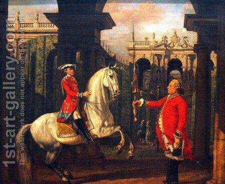 Vienna Spanish Riding School 1773 by Bernardo Bellotto (Canaletto) - Reproduction Oil Painting