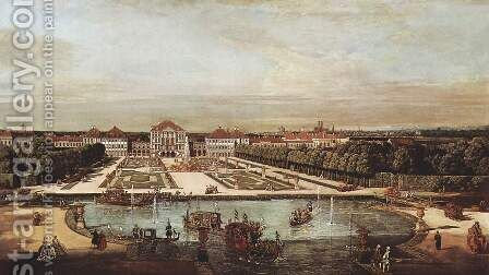 View from Munich, Schloss Nymphenburg, from the west by Bernardo Bellotto (Canaletto) - Reproduction Oil Painting