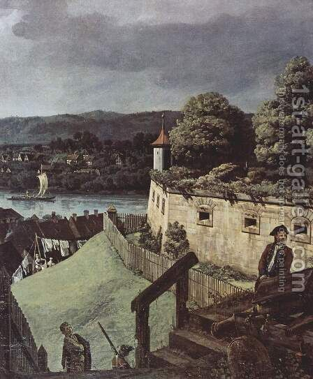 View from Pirna, Pirna, from the sun-stone fortress view, Detail 1 by Bernardo Bellotto (Canaletto) - Reproduction Oil Painting