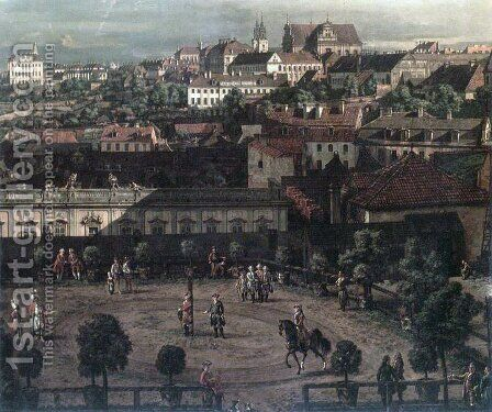 View of Warsaw from the Royal Palace (detail) by Bernardo Bellotto (Canaletto) - Reproduction Oil Painting