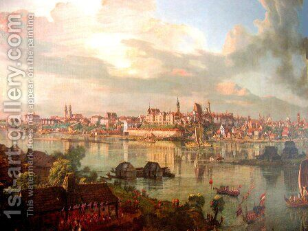 Warsaw by Bernardo Bellotto (Canaletto) - Reproduction Oil Painting