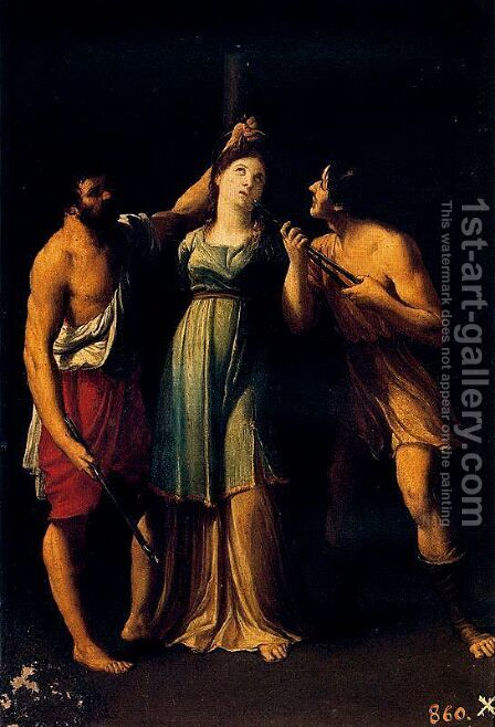 Martyrdom of Santa Apolonia by Guido Reni - Reproduction Oil Painting