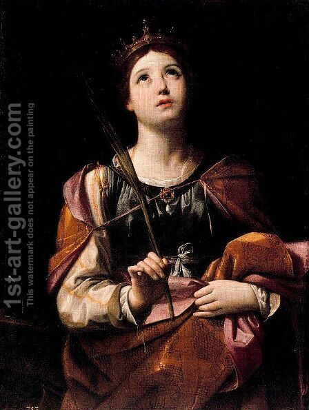 St. Catherine of Alexandria by Guido Reni - Reproduction Oil Painting