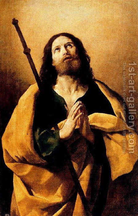 The apostle James the greatest by Guido Reni - Reproduction Oil Painting