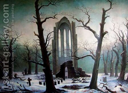 Cementery by Caspar David Friedrich - Reproduction Oil Painting