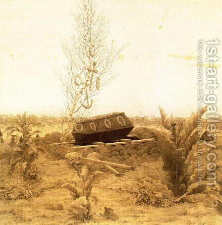 Coffin and Grave by Caspar David Friedrich - Reproduction Oil Painting