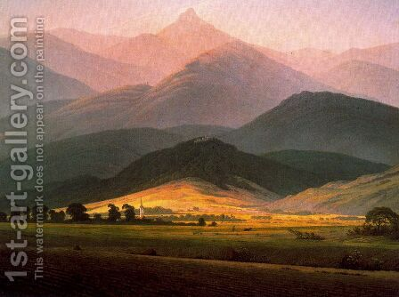 Landscape in the Riessengebirge by Caspar David Friedrich - Reproduction Oil Painting