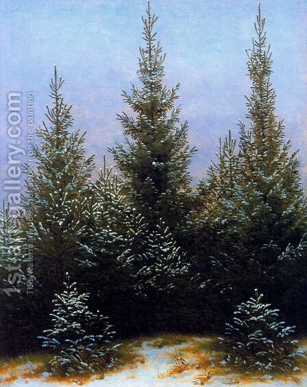 Pine Thicket by Caspar David Friedrich - Reproduction Oil Painting