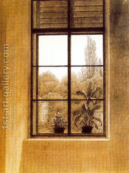 Window and Garden by Caspar David Friedrich - Reproduction Oil Painting