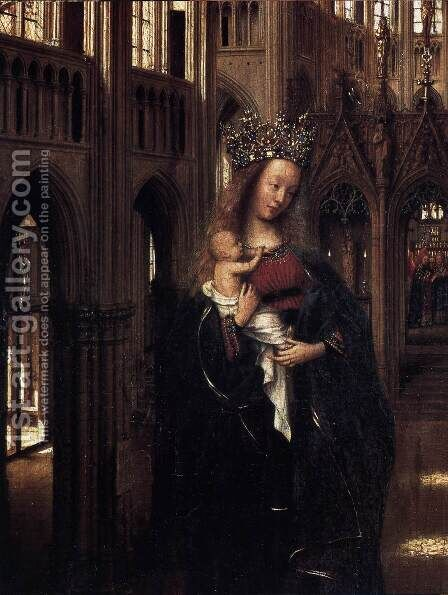 Madonna in the Church (detail) by Jan Van Eyck - Reproduction Oil Painting