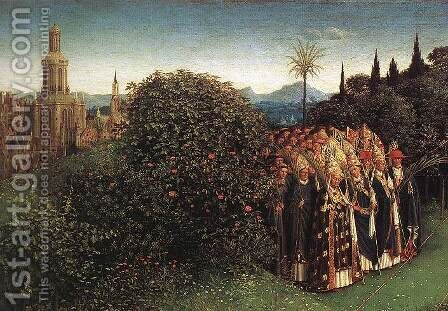 Portrait of Giovanni Arnolfini and his Wife (detail) 6 (2) by Jan Van Eyck - Reproduction Oil Painting