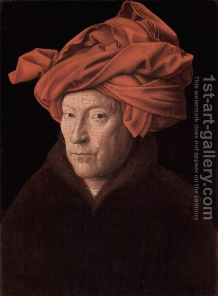Man in a Red Turban by Jan Van Eyck - Reproduction Oil Painting