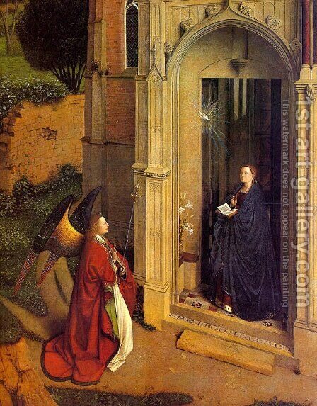 The Annunciation by Jan Van Eyck - Reproduction Oil Painting