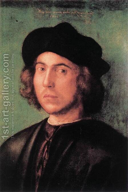 Portrait of a Young Man 2 by Albrecht Durer - Reproduction Oil Painting