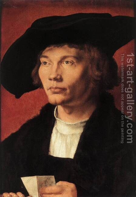Portrait of Bernhard von Reesen by Albrecht Durer - Reproduction Oil Painting