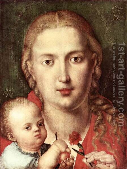 The Madonna of the Carnation by Albrecht Durer - Reproduction Oil Painting