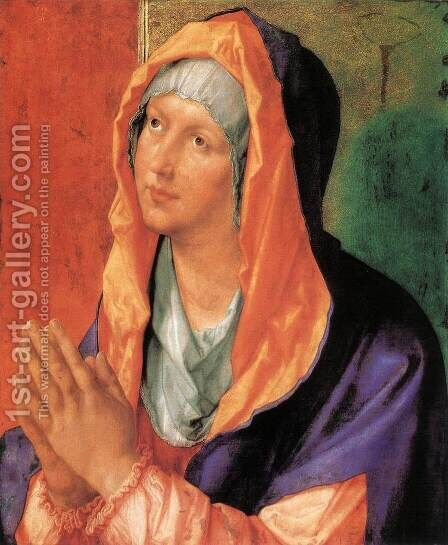 The Virgin Mary in Prayer by Albrecht Durer - Reproduction Oil Painting