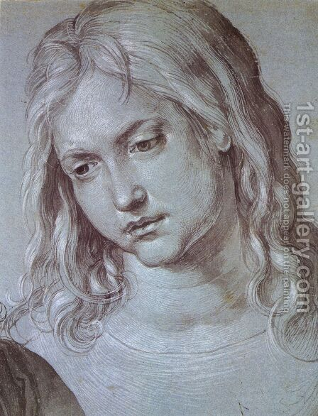 Head of St Mark (2) by Albrecht Durer - Reproduction Oil Painting