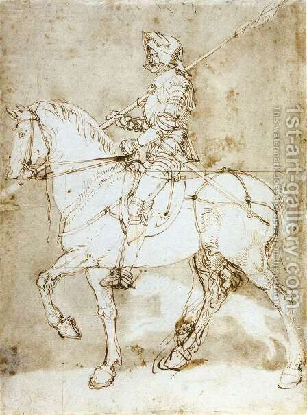 Knight on Horseback by Albrecht Durer - Reproduction Oil Painting
