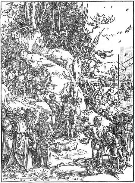 Martyrdom of the Ten Thousand 2 by Albrecht Durer - Reproduction Oil Painting