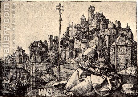 St. Anthony At the City by Albrecht Durer - Reproduction Oil Painting