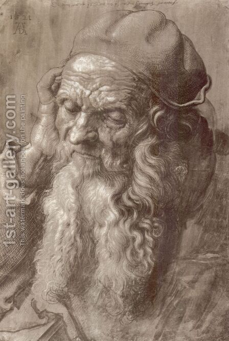 Study of a Man Aged 93 by Albrecht Durer - Reproduction Oil Painting