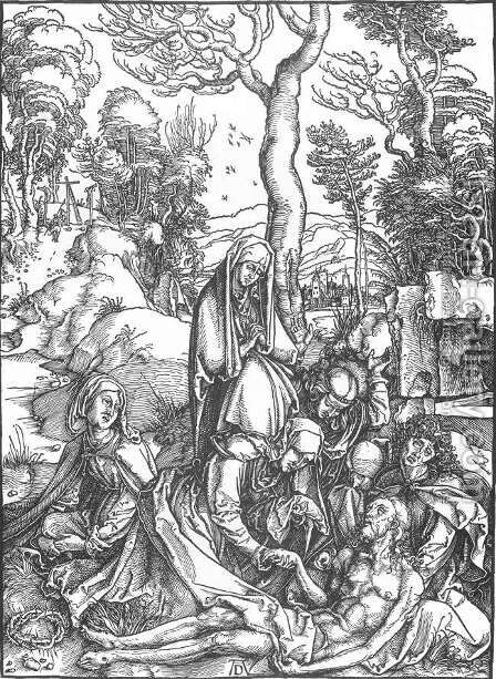 The Large Passion, 07. The Lamentation for Christ by Albrecht Durer - Reproduction Oil Painting
