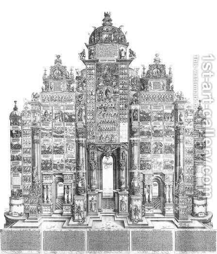 Triumphal Arch (entire view) by Albrecht Durer - Reproduction Oil Painting