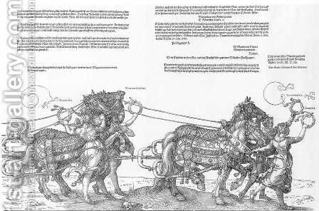 Triumphal Chariot (7-8) by Albrecht Durer - Reproduction Oil Painting