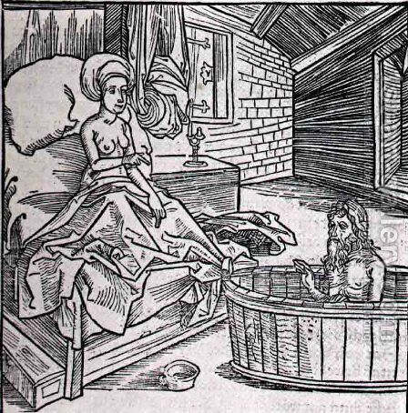 Women Cold Bath And L'Ermite by Albrecht Durer - Reproduction Oil Painting
