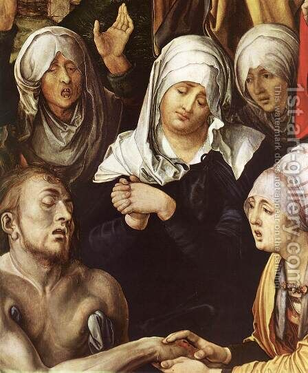 Lamentation for Christ (detail 2) by Albrecht Durer - Reproduction Oil Painting